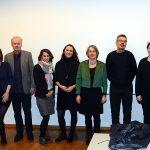 vlnr. Nils Zurawski, Nele Heise, Harald Schumann, Elisa Simantke, Jasmin Klofta, Ingrid Schneider, Erich Moechel, Anne Roth, Antje Möller