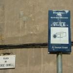 Placa de George Orwell, Barcelona